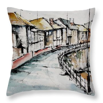 Quiet Streets Throw Pillow
