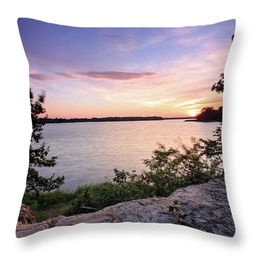 Throw Pillow featuring the photograph Quiet Sunset by Jennifer Casey