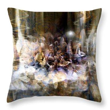 Throw Pillow featuring the digital art  Quiet Thunder by Linda Sannuti