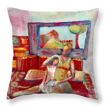 Quiet Time Throw Pillow