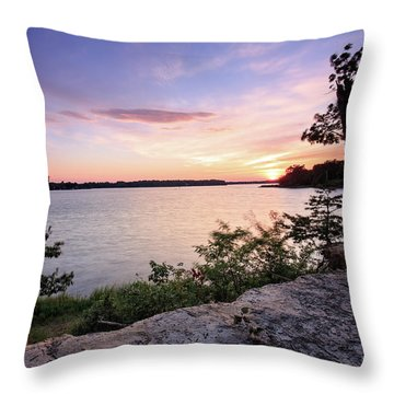 Quiet Waters Crop Throw Pillow by Jennifer Casey