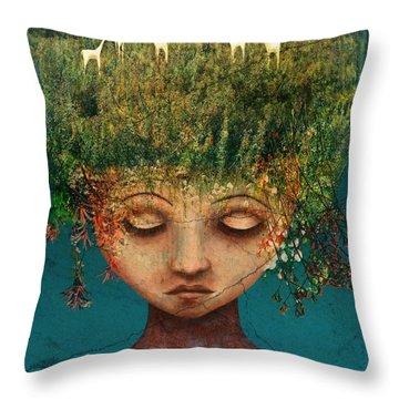 Quietly Wild Throw Pillow