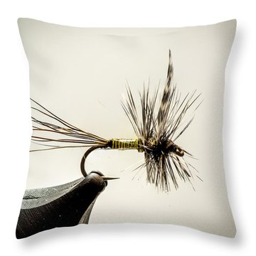 Quill Body Mayfly Throw Pillow