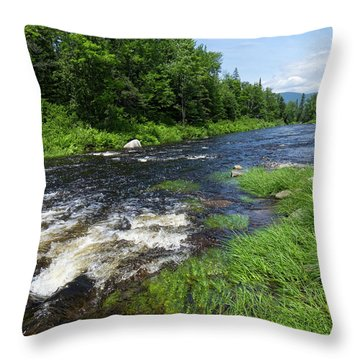 Quill Pond Brook Near Rangeley Maine  -70748 Throw Pillow
