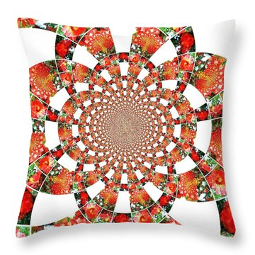 Quilted Flower Throw Pillow