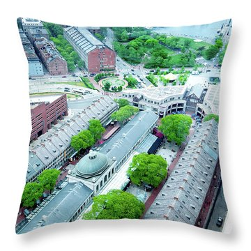 Quincy And Columbus Throw Pillow by Greg Fortier