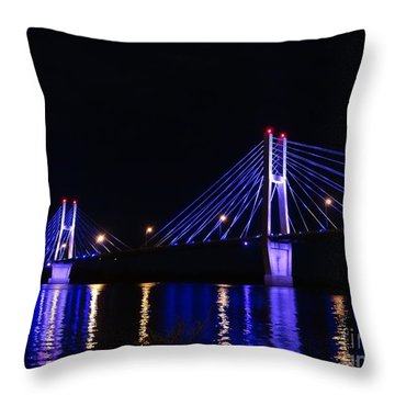 Quincy Bay View Light Reflection Throw Pillow by Justin Moore