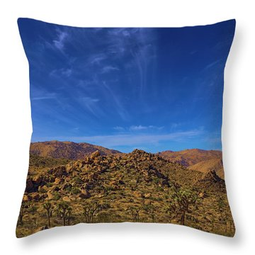 Marklands Magic Mountain In Joshua Tree National Park Throw Pillow