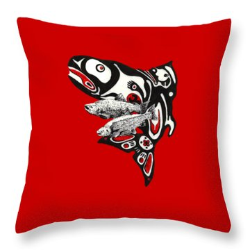 Quin'nat Throw Pillow by Julio Lopez