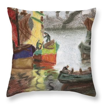 La Boca Caminito Throw Pillow