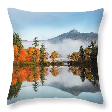 Mount Chocorua Fall Reflection Throw Pillow