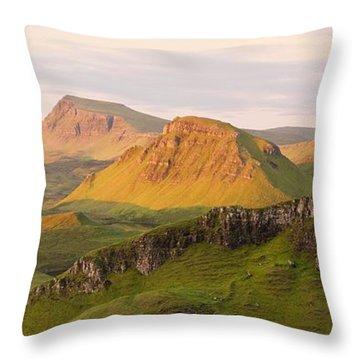 Quiraing Panorama Throw Pillow