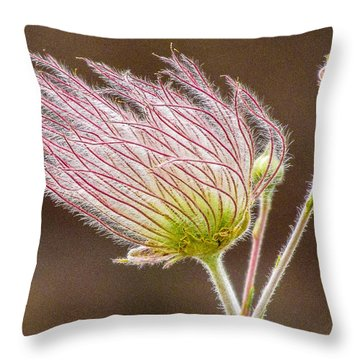 Quirky Red Squiggly Flower 1 Throw Pillow