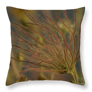Quirky Red Squiggly Flower 4 Throw Pillow