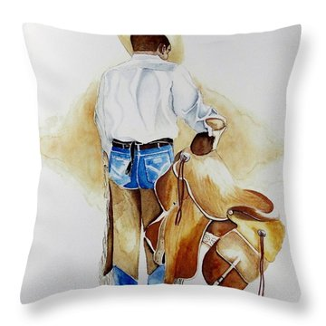 Quittin Time Throw Pillow by Jimmy Smith