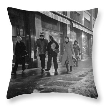 Quitting Time For Daytons Staff Throw Pillow