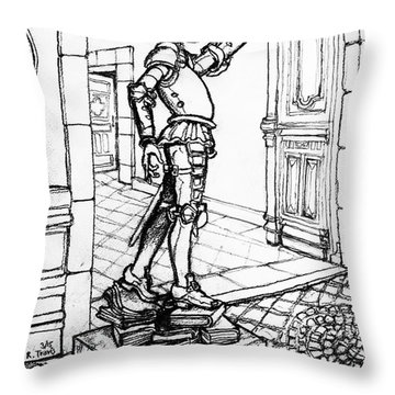Quixote Museum Throw Pillow by Rich Travis