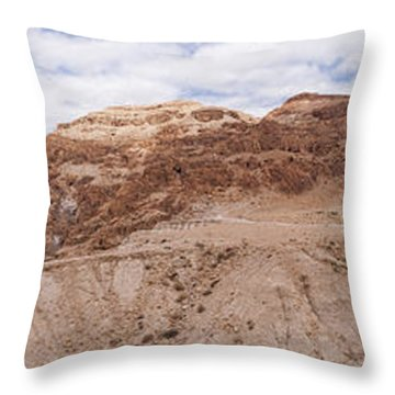 Qumran National Park Throw Pillow by Yoel Koskas