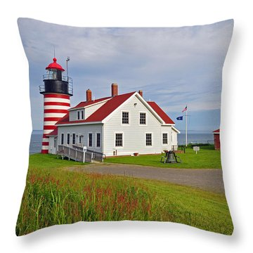 Quoddy Head Lighthouse Throw Pillow