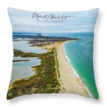 Quonochontaug Beach Throw Pillow