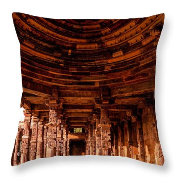 Qutub Minar Throw Pillow