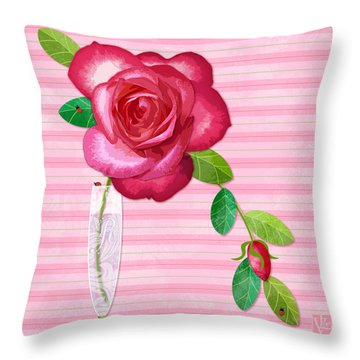 R Is For Rose Throw Pillow
