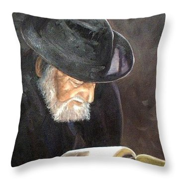 Rabbi Throw Pillow by Toni Berry