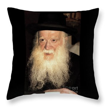 Throw Pillow featuring the photograph Rabbi Yehudah Zev Segal by Doc Braham