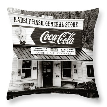 Rabbit Hash General Store- Photogaphy By Linda Woods Throw Pillow