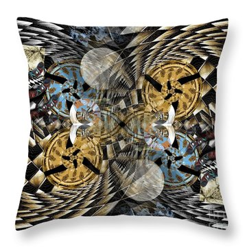 Rabbit Hole Clockworks Throw Pillow
