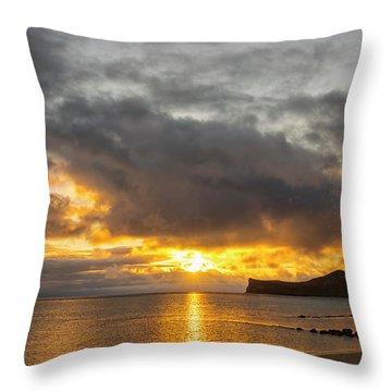 Rabbit Island Sunrise - Oahu Hawaii Throw Pillow by Brian Harig