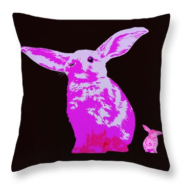 Rabbit Throw Pillow by James Bethanis