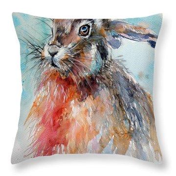 Rabbit Throw Pillow