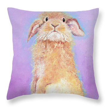 Rabbit Painting - Babu Throw Pillow