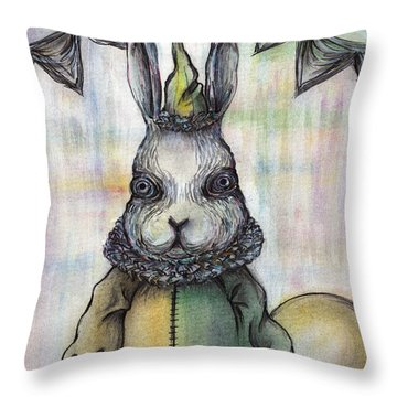 Rabbit Pierrot Throw Pillow