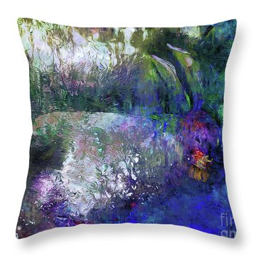 Throw Pillow featuring the photograph Rabbit Reflection by Claire Bull