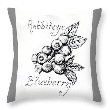Rabbiteye Blueberry Throw Pillow