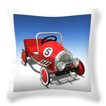 Throw Pillow featuring the photograph Race Car Peddle Car by Mike McGlothlen