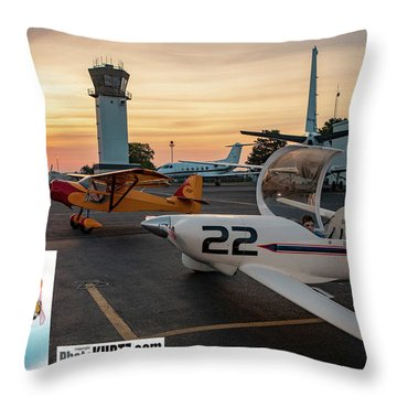 Race Day Arrives Throw Pillow