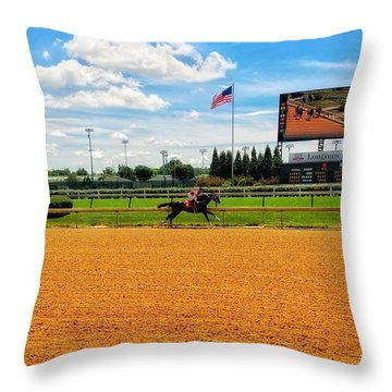 Race Day  Throw Pillow