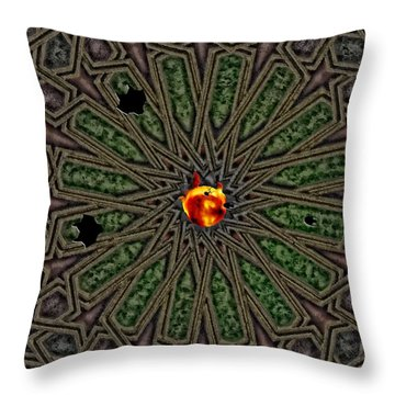 Race For Time In A Space Throw Pillow