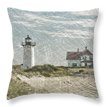 Throw Pillow featuring the photograph Race Point Lighthouse by Paul Miller