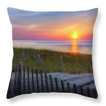 Throw Pillow featuring the photograph Race Point Sunset 2015 by Bill Wakeley