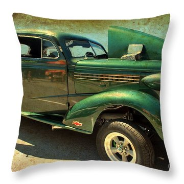 Throw Pillow featuring the photograph Race Ready by Bill Thomson