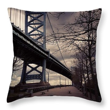 Race Street Pier Throw Pillow