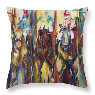 Race Track Throw Pillow