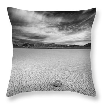 Race Track Valley Throw Pillow