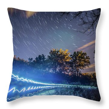 Race Trails Throw Pillow
