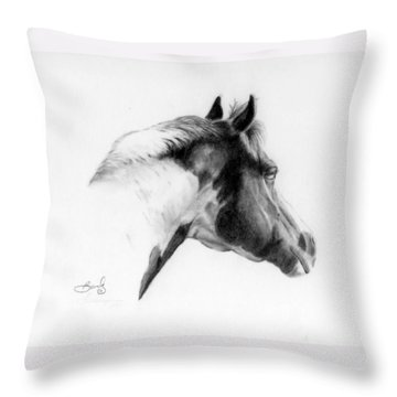 Racer Throw Pillow by Beverly Johnson