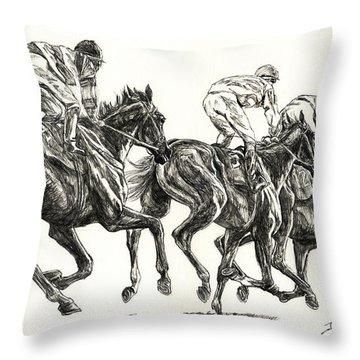 Races Throw Pillow
